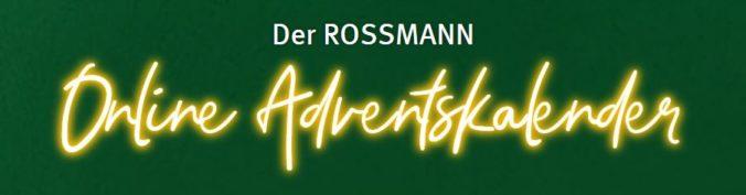 Rossmann Online Adventskalender