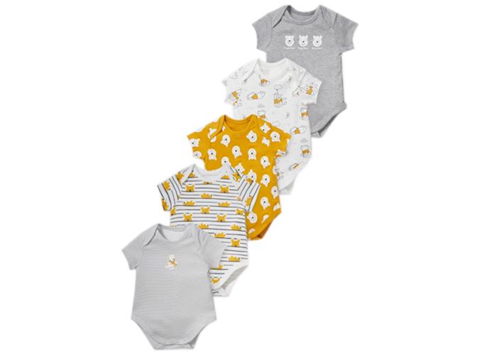 5er Set Winnie Puuh Baby-Bodies