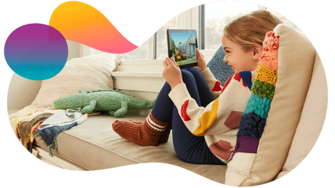 Amazon Kids+ Kind am Tablet