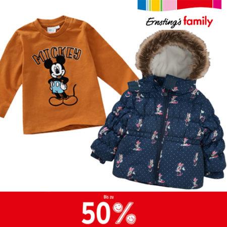 Ernsting's 50% Sale mit Kindermode