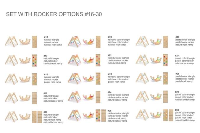 Kombinationsmöglichkeiten der Klettermöbel