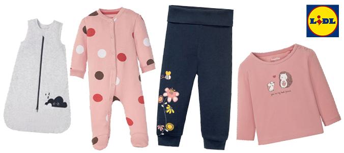 Lidl Babymode: Schlafsack, Schlafoverall, Jogginghose und Shirt