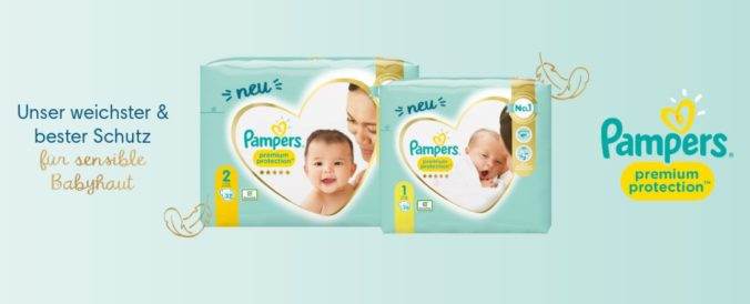 Pampers Premium Protection Packungen gratis testen