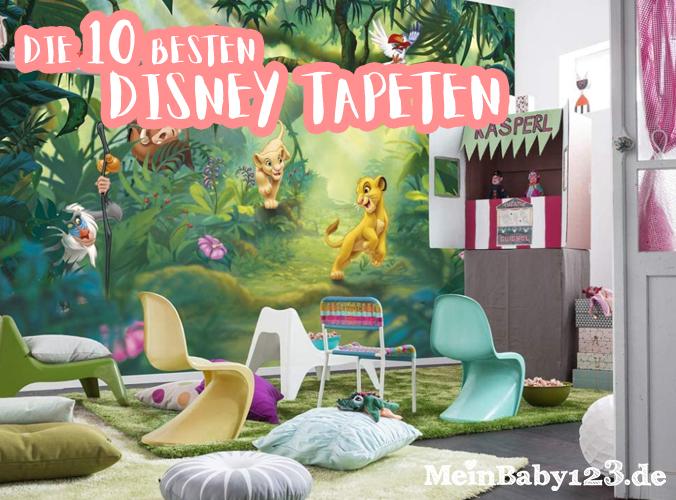 Kinderzimmer mit Disneytapete