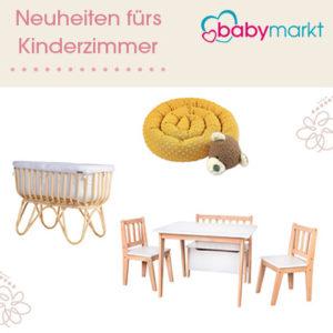 Ab 2,45€ Neuheiten fürs Baby- & Kinderzimmer bei Babymarkt