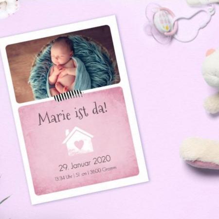 Babykarten zur Geburt