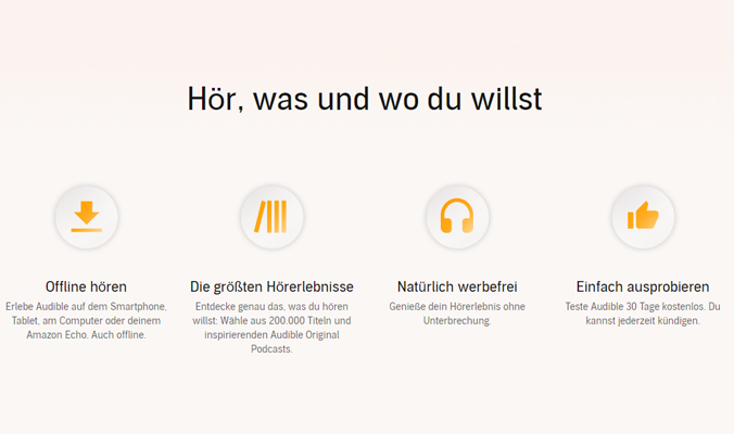 Audible testen