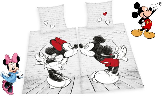 Partnerbettwäsche Mickey Mouse