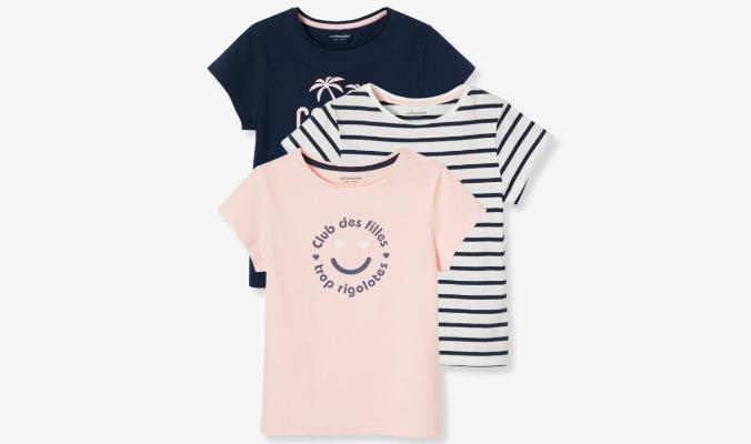 3er-Pack T-Shirts für Mädchen