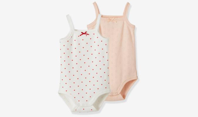2er-Pack Baby Trägerbodys