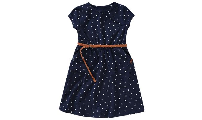 Mädchen Kleid mit Flechtgürtel