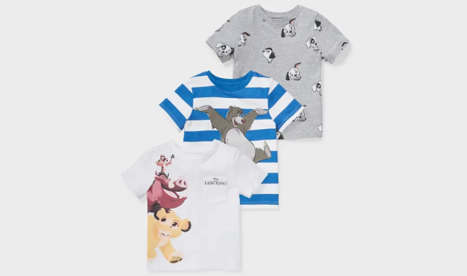 Multipack 3er - Disney - Kurzarmshirt