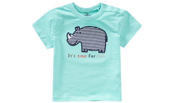Baby T-Shirt mit Nashorn-Motiv