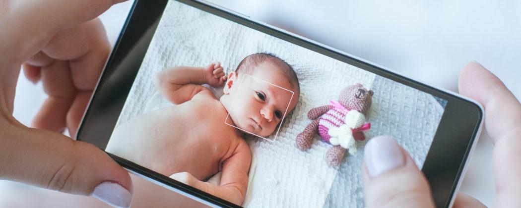 Banner: Fotos deiner Kinder im Internet – Okay oder No-Go?