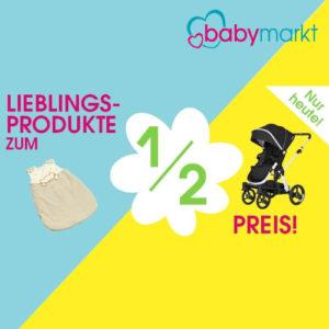 1/2 Preis Baby Produkte bei babymarkt
