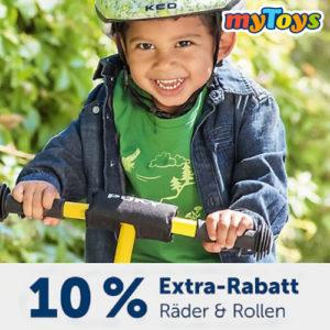 myToys: 10% Extra Rabatt auf Räder & Rollen