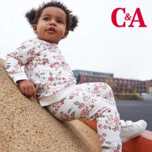 C&A: Süße Baby Kleidung mit Prints ab 3,50€