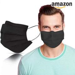 Schwarze Mundschutzmaske