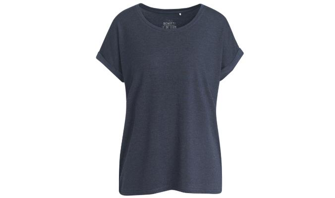 Damen T-Shirt mit überschnittenen Ärmeln