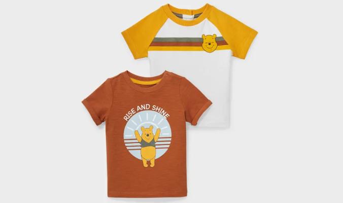 Multipack 2er - Winnie Puuh - Baby-Kurzarmshirt