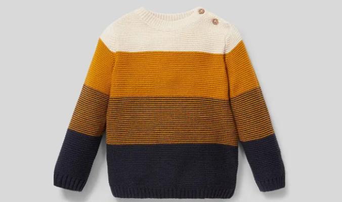 Baby-Pullover - Bio-Baumwolle - gestreift