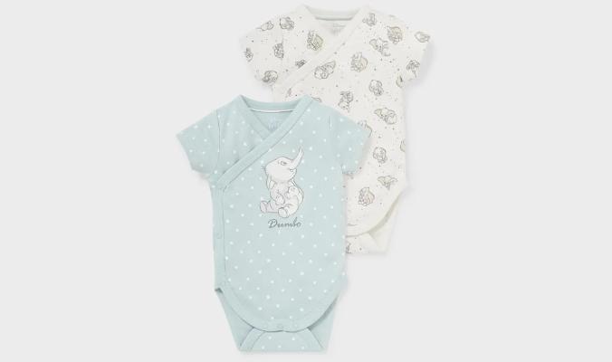Multipack 2er - Dumbo - Baby-Wickelbody