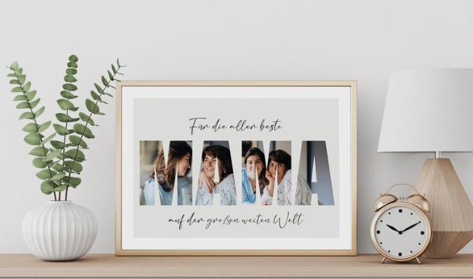 Personalisiertes Muttertag Geschenk Poster
