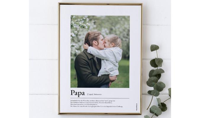 Personalisiertes Poster | Foto und Text