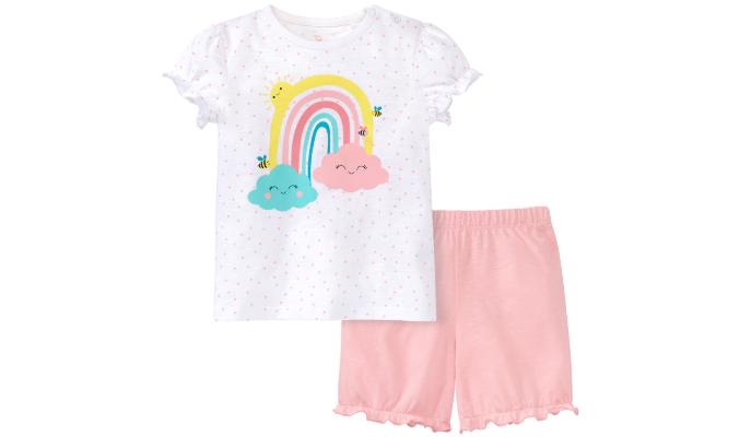 Baby Shorty mit Regenbogen-Motiv
