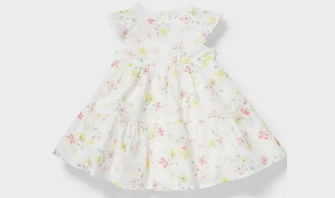 Baby-Kleid - geblümt