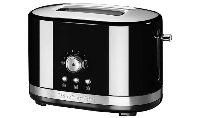 2-Scheiben-Toaster in Schwarz