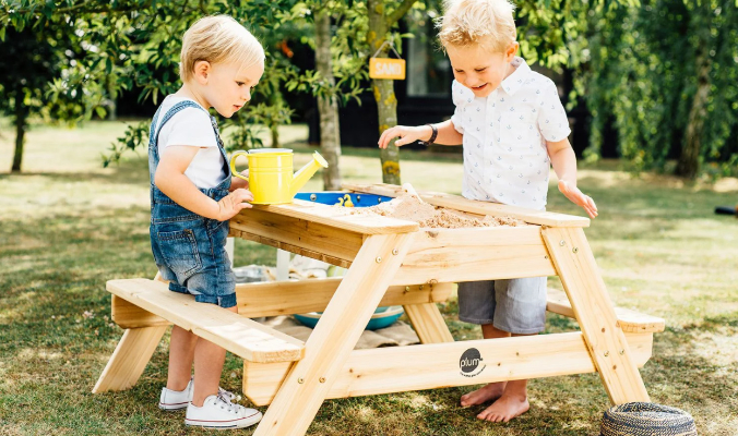 Kinder Picknicktisch, mit Sandkasten und Wasserspiel