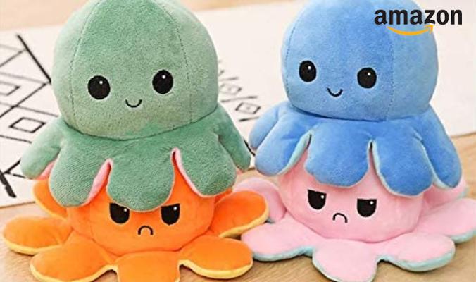 Oktopus Plüschtier zum Wenden