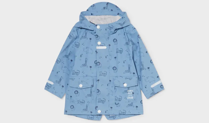 Baby-Regenjacke mit Kapuze