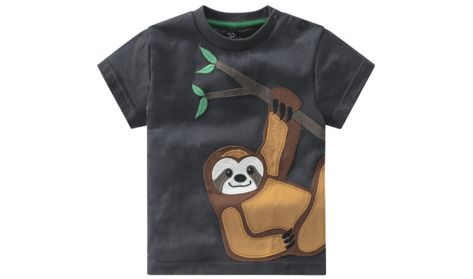 Baby T-Shirt mit Faultier