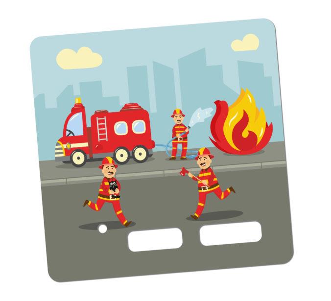 Toniebox Sticker Feuerwehrauto und Feuerwehrmann