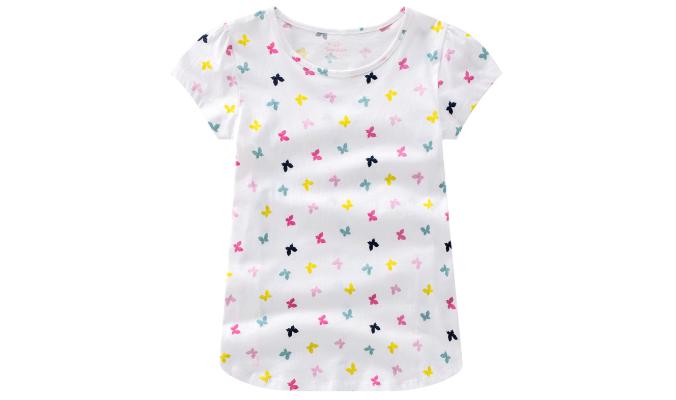 T-Shirt mit Schmetterlingen allover