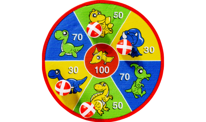 Klett-Dartspiel mit 4 Bällen