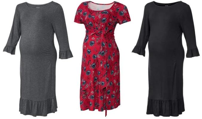 Damen Umstands-Kleid