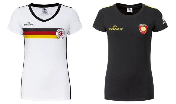 UEFA Fußball-EM T-Shirt Dame