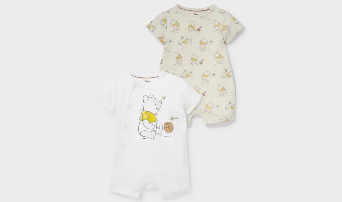 2er - Winnie Puuh - Baby-Schlafanzug - Bio-Baumwolle