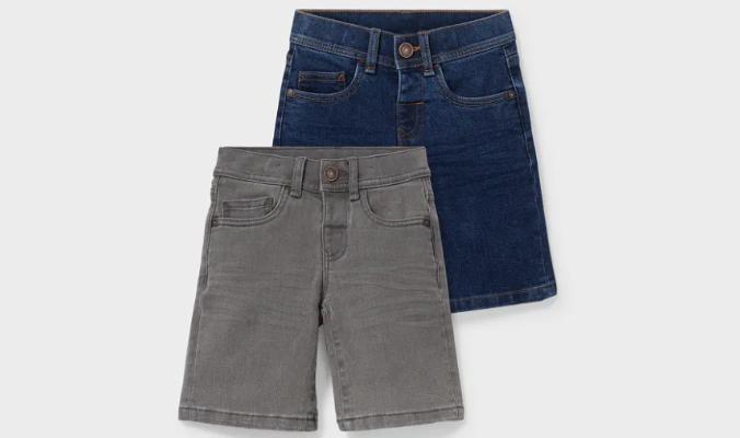 2er - Jeans-Bermudas