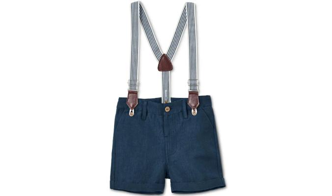 Bermuda-Shorts mit Leinen