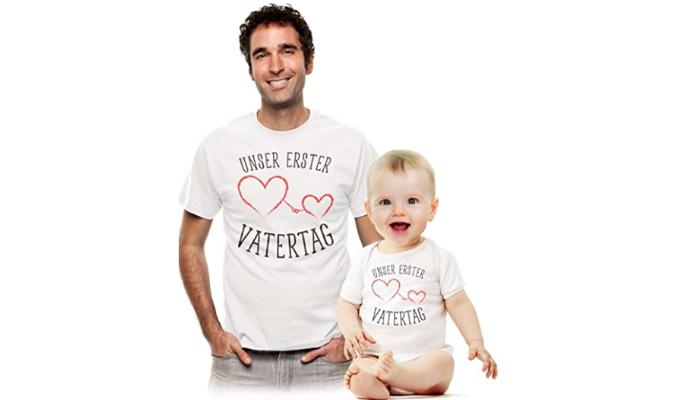 Süßes Geschenk Partner Outfit für Papa und Baby