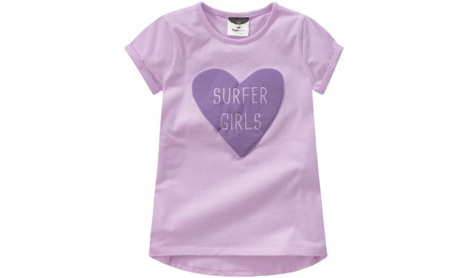 Mädchen T-Shirt mit gummiertem Print