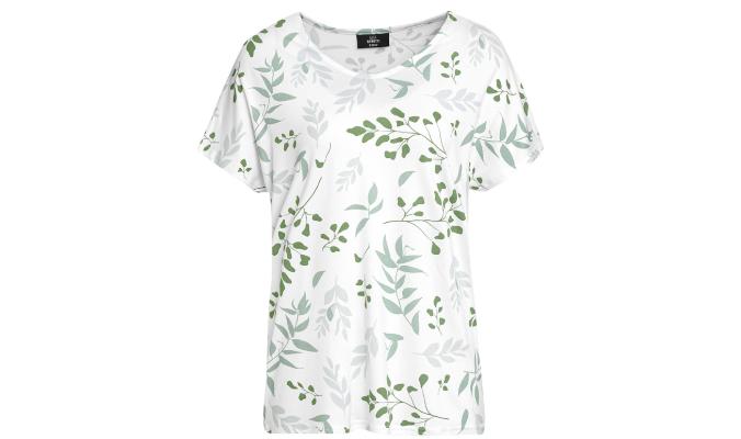 Damen T-Shirt mit Blätter-Print