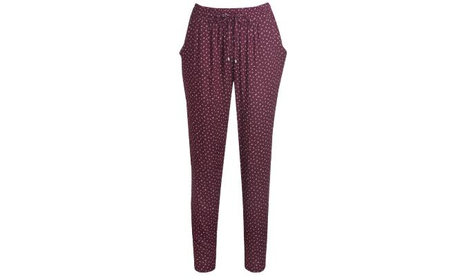 Damen Hose mit Allover-Muster