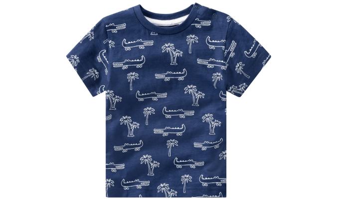 Baby T-Shirt mit Allover-Print
