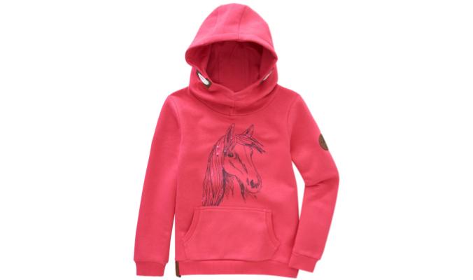 Mädchen Hoodie mit Pferde-Motiv