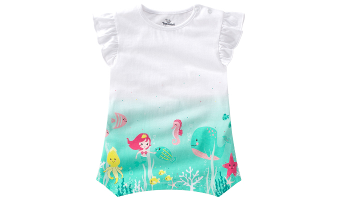Mädchen T-Shirt mit Zipfelsaum